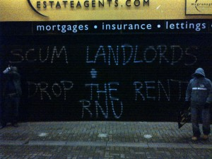 Another Belfast letting agent receives a nigh-time visit from RNU.